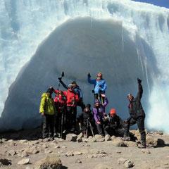 Eiskathedrale im Krater