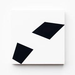 Colonnade #11,  Olieverf op berken multiplex 26x26x3,6 cm (2019)