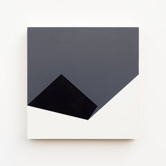 Foundation 14, Olieverf op berken multiplex 26x26x3,6 cm (2019)