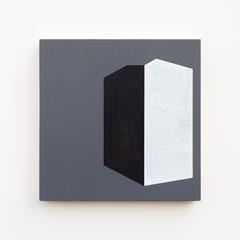 Foundation 15, Olieverf op berken multiplex 26x26x3,6 cm (2019)