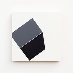 Foundation 11, Olieverf op berken multiplex 26x26x3,6 cm (2019)