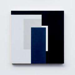 Blue 04,  Olieverf op berken multiplex 44x44x3 cm (2018)