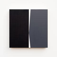 Foundation 07, Olieverf op berken multiplex 26x26x3,6 cm (2019)