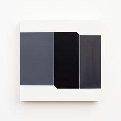 Foundation 10, Olieverf op berken multiplex 26x26x3,6 cm (2019)
