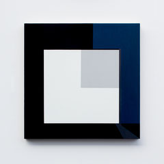 Blue 05,  Olieverf op berken multiplex 44x44x3 cm (2018)
