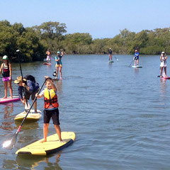 Dylan proving anyone can do stand up paddle boarding!