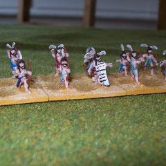 Die Lybier bringen zwei Einheiten leichte Bogenschützen mit,...