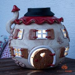Solarlampe aus Keramik