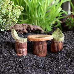 Keramik Fleury Miniaturgarten Wichtelhaus Feenhaus Elfenhaus