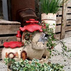 Keramik Fleury Wichtelhaus Elfenhaus Feenhaus Miniaturgarten