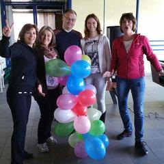 """Wettbewerb """"wer baut den höchsten Luftballonturm?"""""""