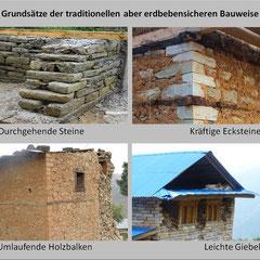 4 wesentliche Punkte zur Bauweise mit Stein, Lehm und Holz.
