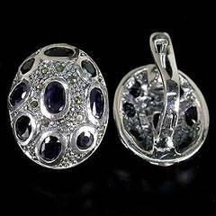 серебро 925 с сапфиром,сапфир в серебре