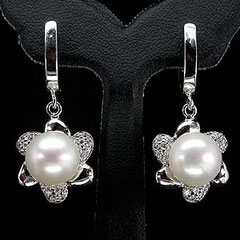 серебро с жемчугом,жемчужные серьги в серебре,жемчуг с серебром,серебряное кольцо с жемчугом