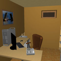 Кабинет в подвальном помещении