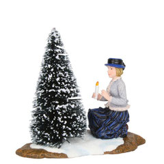 601507-Frau Brigitte with christmas tree