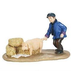 600592-Martin Jonas playing with pig