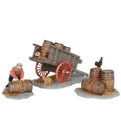 601558-Man cart beer barrel