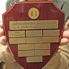 Auszeichnung Wappen Schmuckbrett braun bestellen