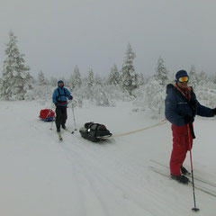 Ski traverse in Urho Kekkonen National Park.