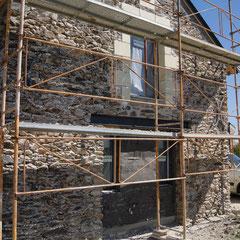 Façade EST préparation des murs avant le crépis