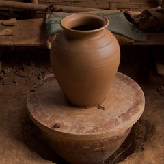 Laos, pottery making in Ban Chan village near Luang Prabang