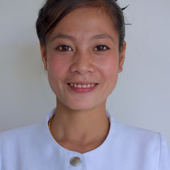 Laos, Luang Prabang: staff member named Mainoi at the Amantaka hotel