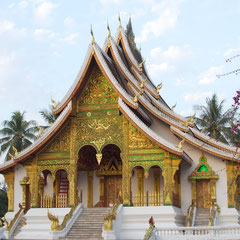 Laos, Luang Prabang: the Wat Ho Prabang pavilion at the National Museum