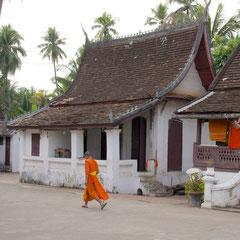 Laos, Luang Prabang: monks at Wat Si Boun Houang