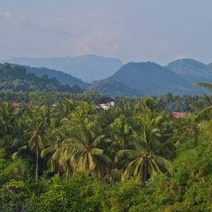 Laos, Luang Prabang: the view towards town from La Residence Phou Vao