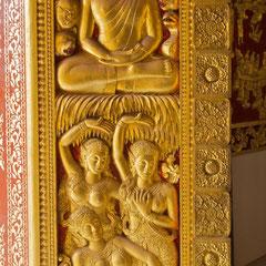 Laos, Luang Prabang: a doorway into Wat Ho Prabang