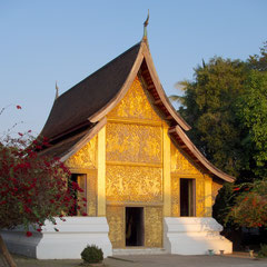 Laos, Luang Prabang: the chariot hall at Wat Xieng Thong
