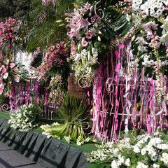 Karneval in Nizza , Festwagen Blumenkorso Frankreich Cote DÀzur