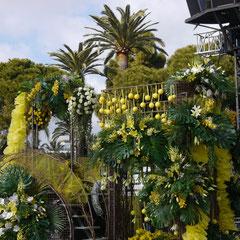 Karneval in Nizza, Festwagen Blumenkorso Frankreich Cote DÀzur
