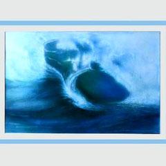 Nr.1/06 Wasserwelle  Airbrush auf Spezialpapier Fin Art  80x60 cm inkl. Karton - Passepartout  Euro 530,-