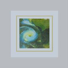 Nr.4/10 Cosmos  Airbrush auf Spezialpapier Fin Art  50x50 cm inkl. Karton - Passepartout, Glas, Metallrahmen Bronze eluxiert inkl.Rückwand    € 270,-