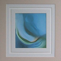 Nr. 3/11 Kosmische Welle   Airbrush 50x40 cm auf Fin Art Spezialpapier inkl. Karton - Passepartout  Euro 220,-