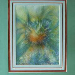 Nr.15/22  Airbrush auf Spezialpapier Fin Art 76x60 cm inkl. Karton - Passepartout  Euro  380,-