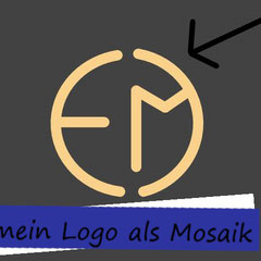 Logo als Boden-Mosaik