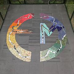 Mosaik-Boden in  der Werkstatt