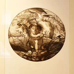 """lovecuple"" etching 1998"
