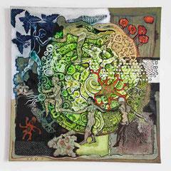 """""""Organismus 2"""" Acryl auf Leinen (90x93) 2011"""