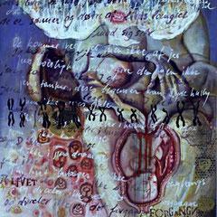 """""""""""Drei Generationen"""" Acryl auf Leinen (94x120) 2004"""