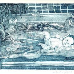 """""""Mutter und Kind"""" Radierung 1998"""