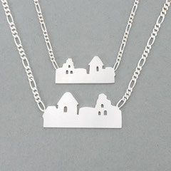 Silberkette mit Skyline von Neuleiningen, gibt es in groß für Herren und klein für Damen