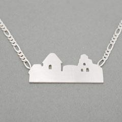 Silberkette mit Skyline von Neuleiningen