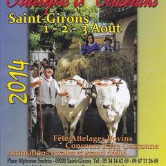 """La fileuse à Saint-Girons à la manifestation """"Autrefois le Couserans"""" 1-2-3 août 2014"""