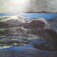 le rocher - 100 x 64 cm