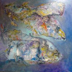 poisson de roche - 100 x 100 cm