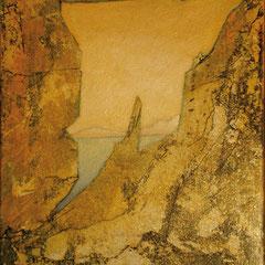 fenêtre sur la mer - 34 x 40 cm